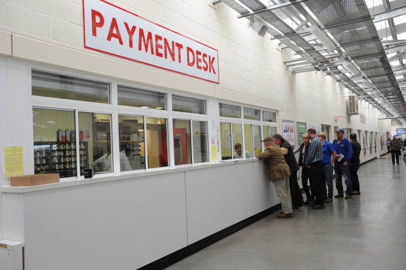 The payment desk