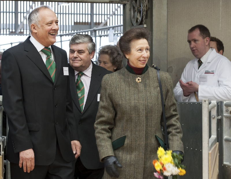 HRH The Princess Royal at the official opening of the new Hereford Livestock Market