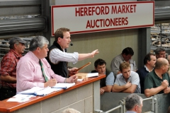 Richard Hyde and Greg Christopher at Hereford Livestock Market