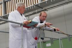 Graham Baker and Andrew Edwards at Hereford Livestock Market